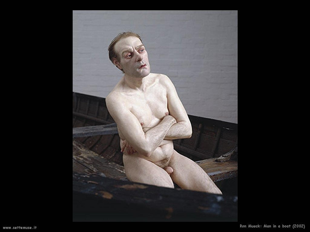 Ron Mueck man_in_a_boat_2002