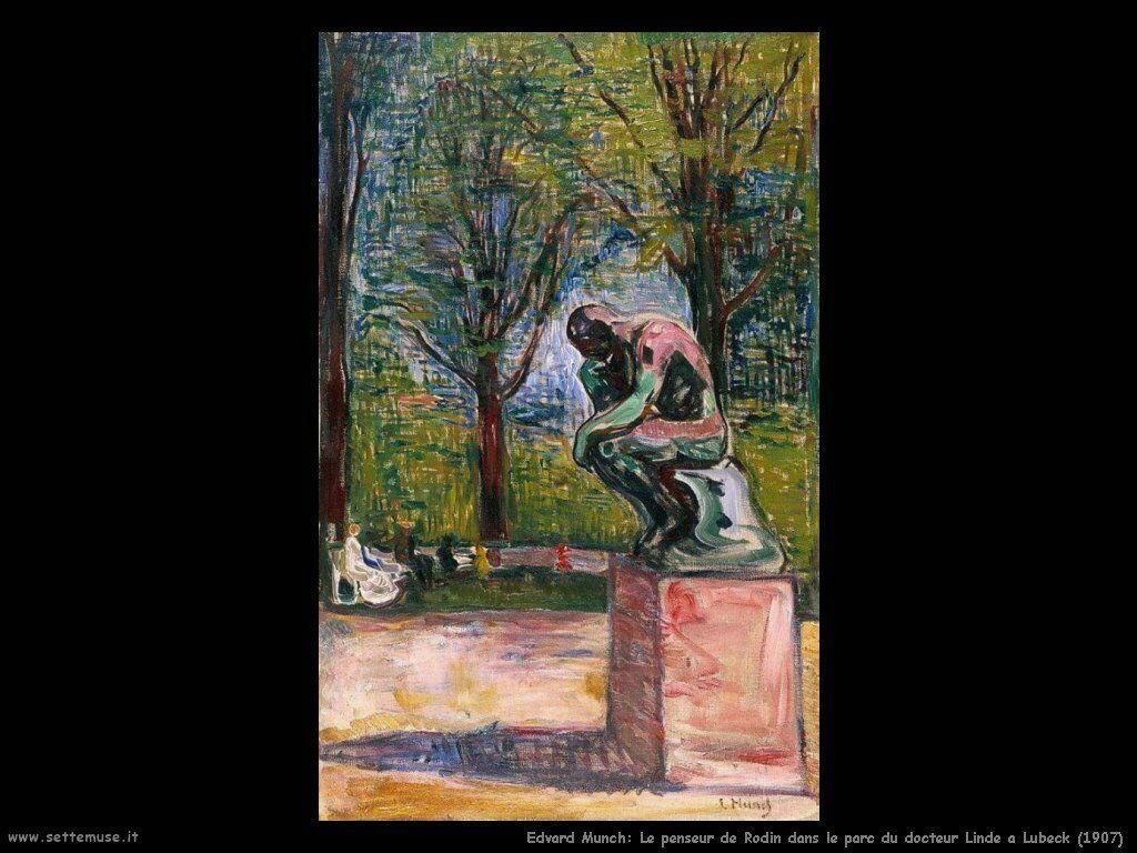 le penseur de rodin dans le parc du docteur linde a lubeck 1907