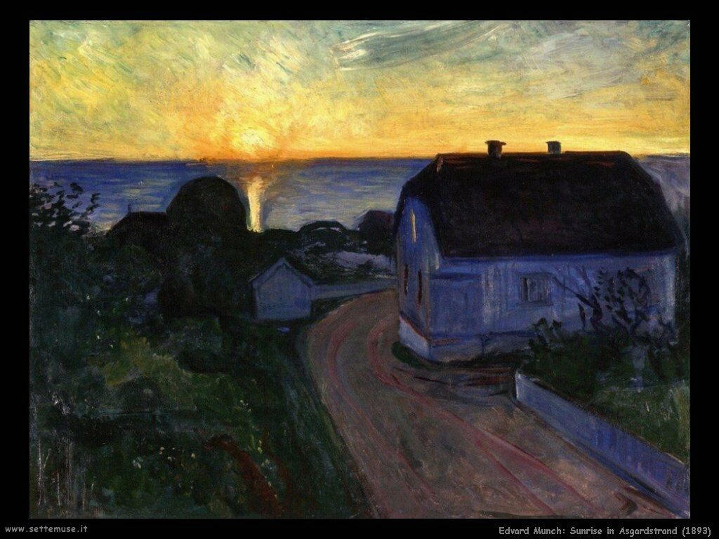 sunrise in asgardstrand 1893