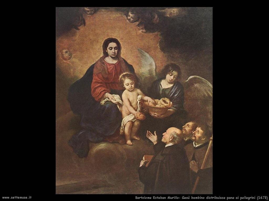 Bartolomé Esteban Murillo_gesù_bambino_distribuisce_pane_ai_pellegrini_1678