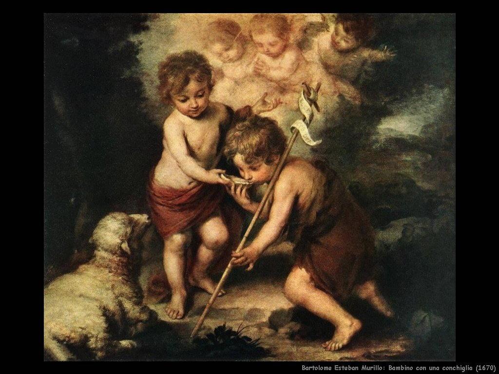 Bartolomé Esteban Murillo_bambino_con_una_conchiglia_1670