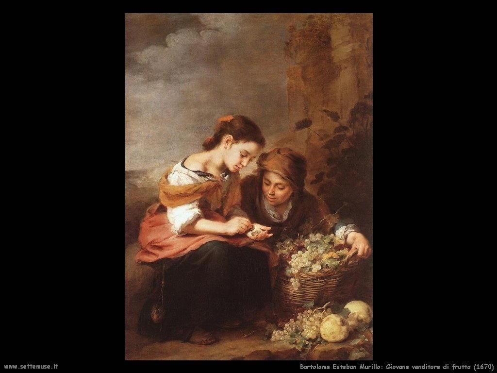 Bartolomé Esteban Murillo_giovane_venditore_di_frutta_1670