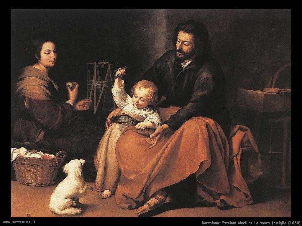 Bartolomé Esteban Murillo_la_sacra_famiglia_1650