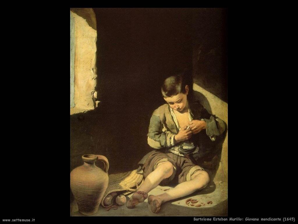 Bartolomé Esteban Murillo_giovane_mendicante_1645