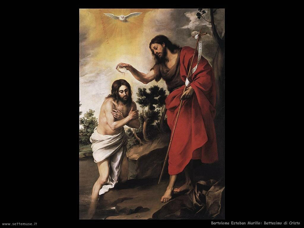 Murillo battesimo di cristo