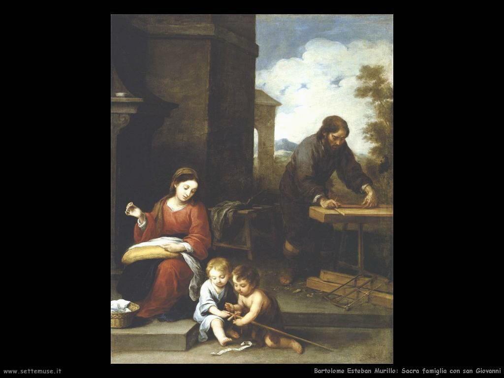 Murillo sacra famiglia con san giovanni