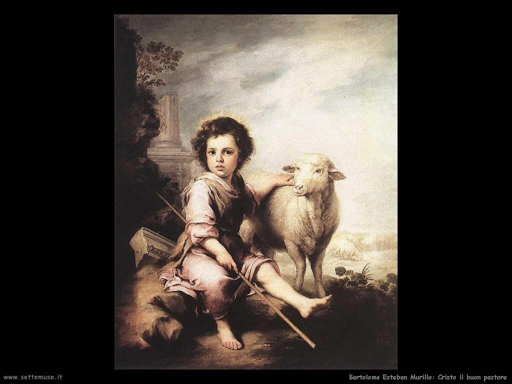 Murillo cristo il buon pastore