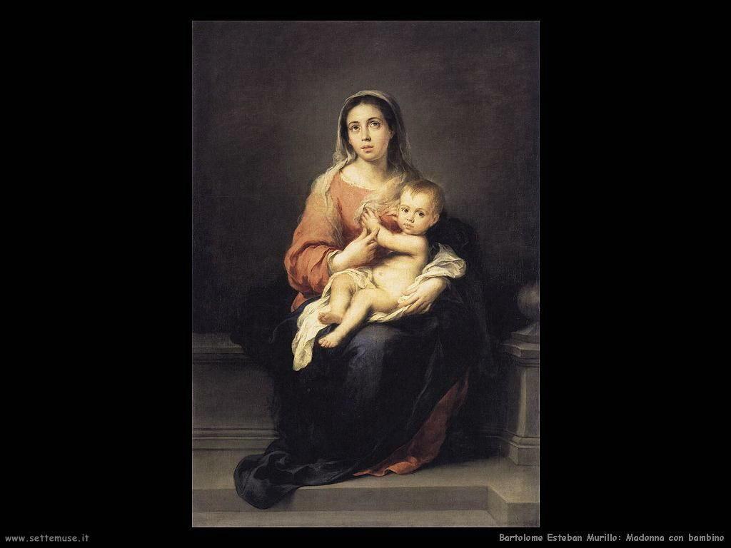Murillo madonna e bambino