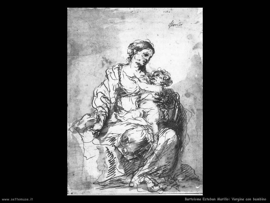 Murillo vergine e bambino