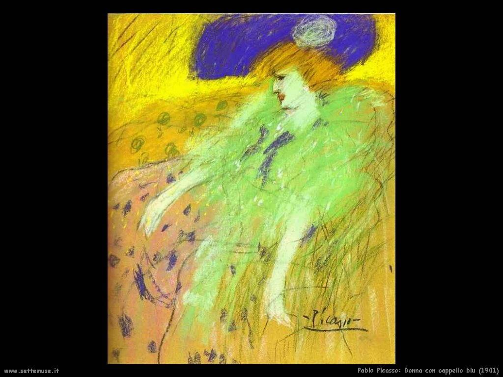 1901_pablo_picasso_donna_con_cappello_blu