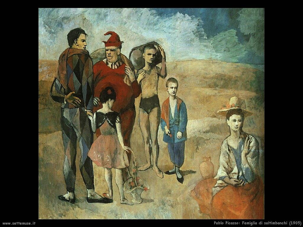 1905_pablo_picasso_famiglia_di_santimbanchi