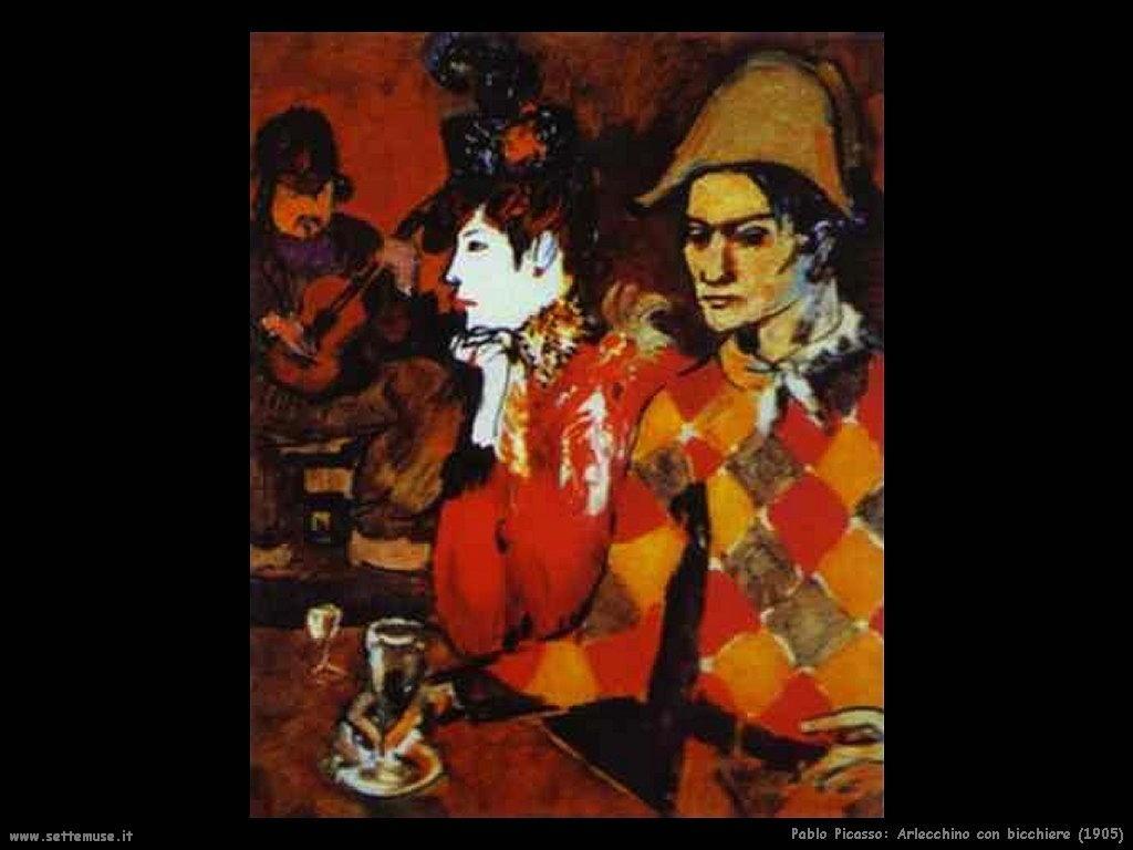 1905_pablo_picasso_arlecchino_con_bicchiere