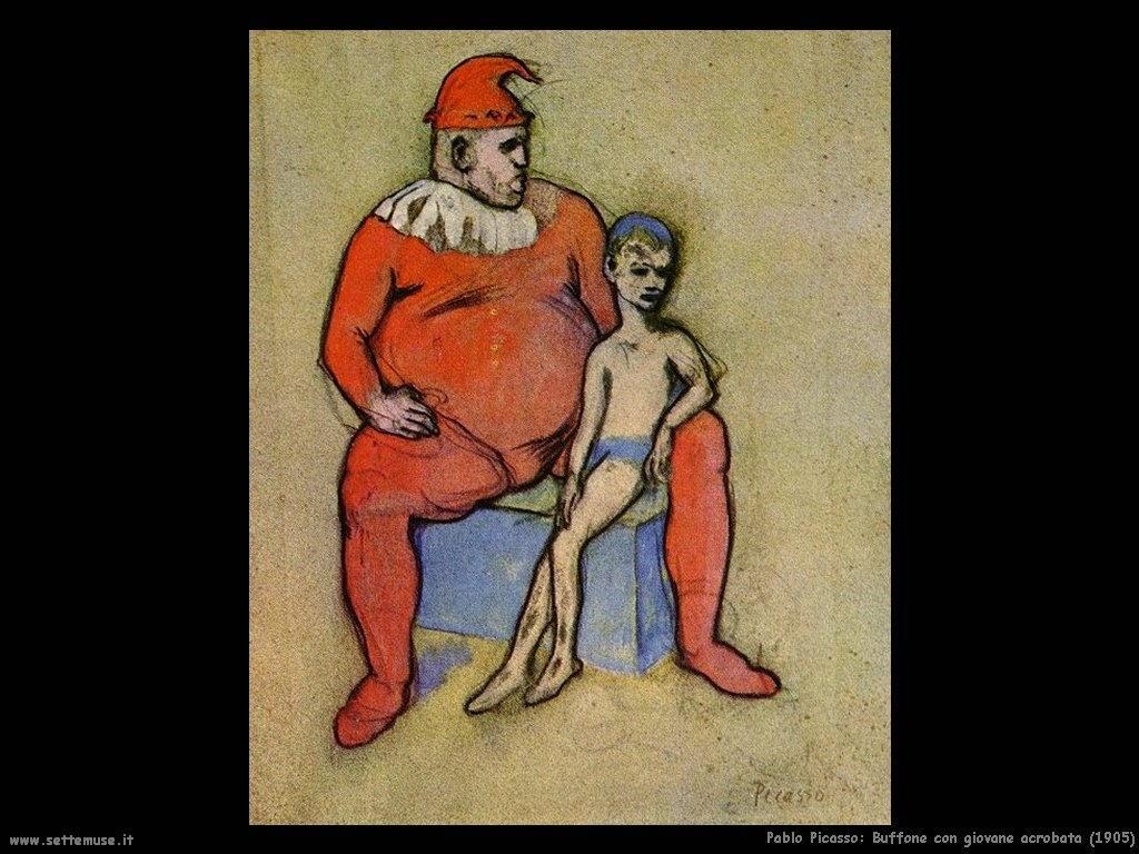 1905_pablo_picasso_buffone_e_giovane_acrobata