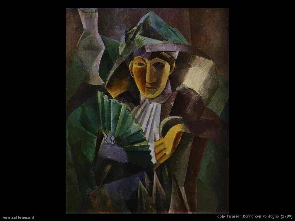 1909 donna con ventaglio