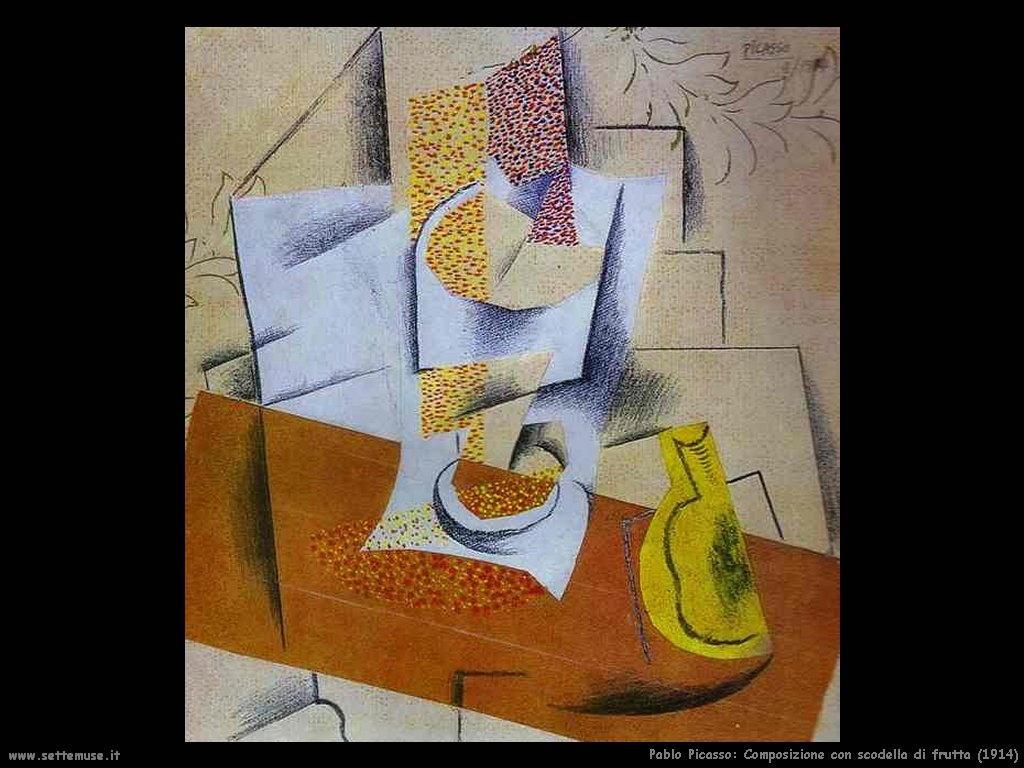 1914 composizione scodella di frutta