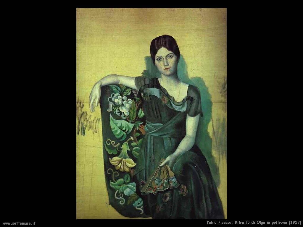 1917 ritratto di olga in poltrona