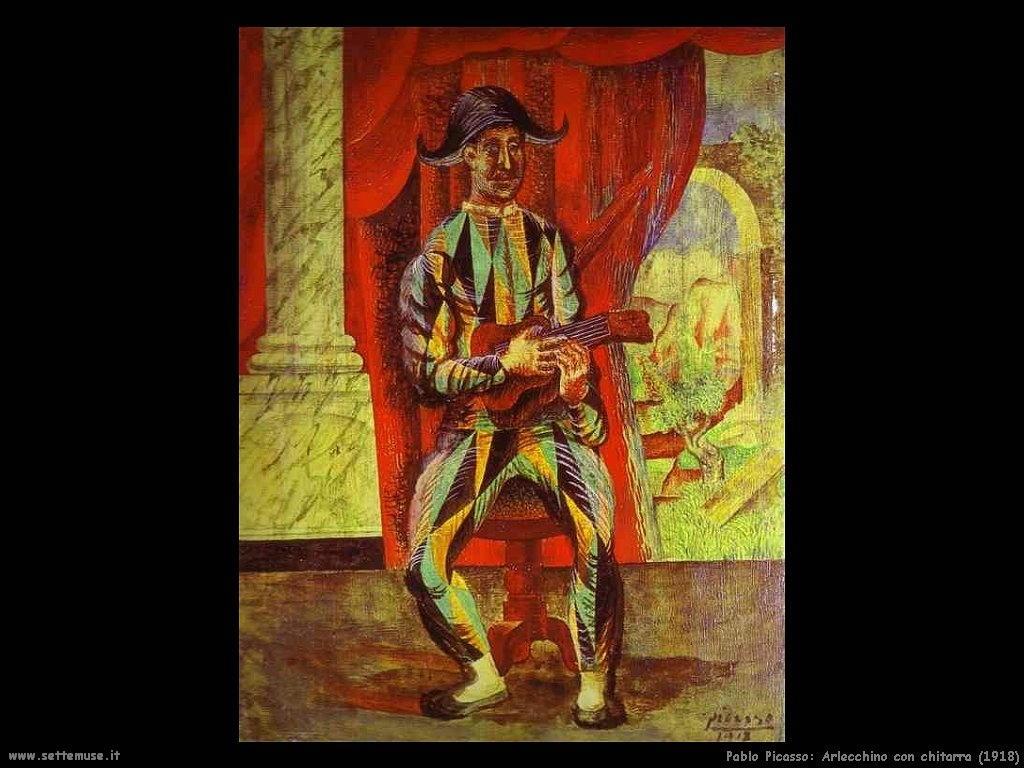 1918 arlecchino con chitarra