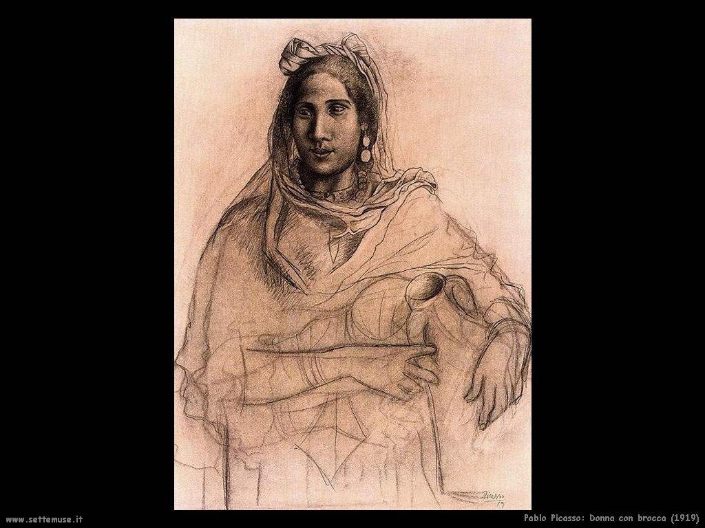 1919 donna con brocca