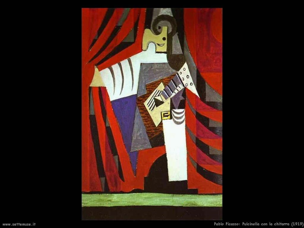 1919 pulcinella con la chitarra