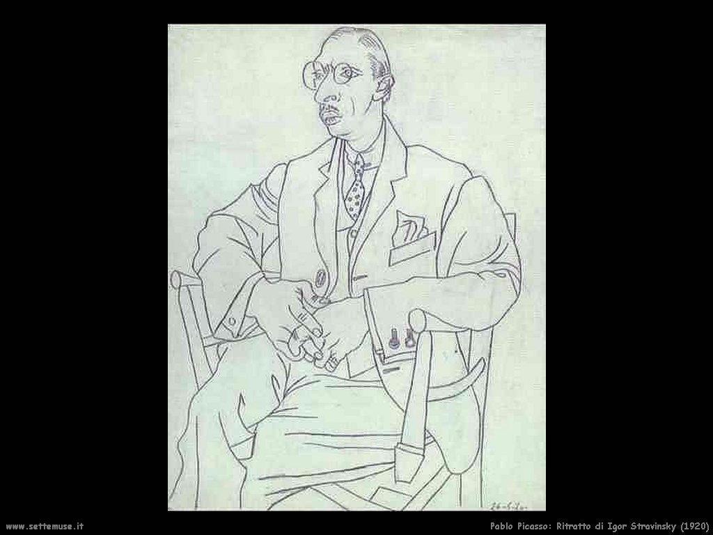 1920 ritratto di igor stravinsky