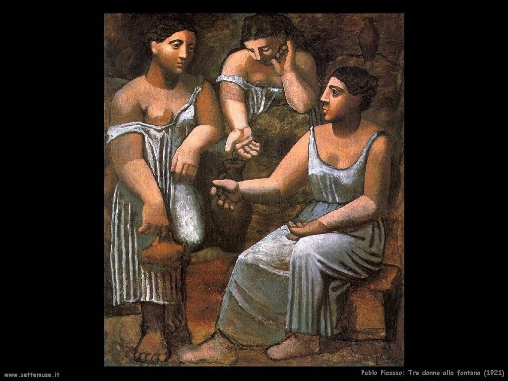 1921 tre donne alla fontana