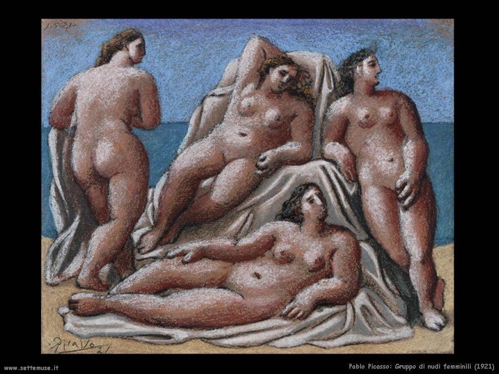 1921 gruppo di nudi femminili