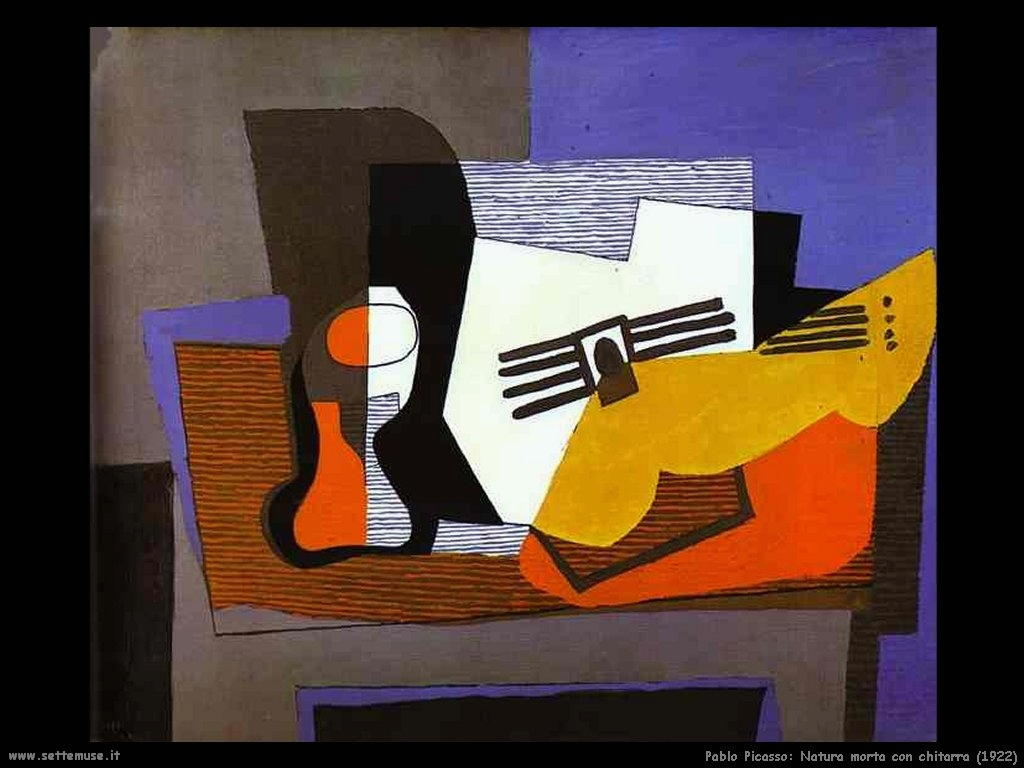 1922 natura morta con chitarra