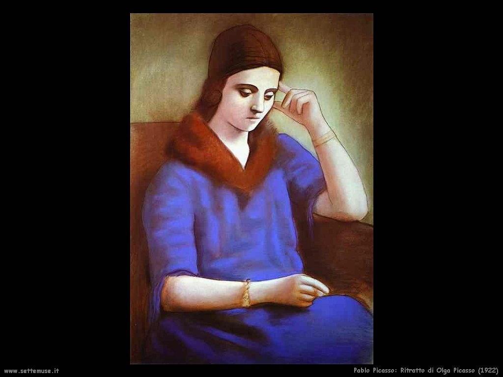 1922 ritratto di olga picasso
