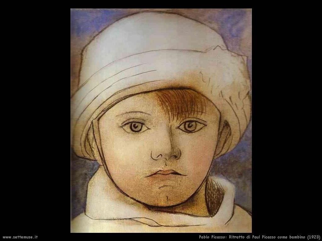 1923 ritratto di paul picasso come bambino