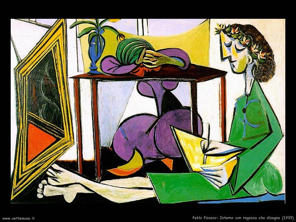 1935_pablo_picasso_interno_con_ragazza_che_disegna