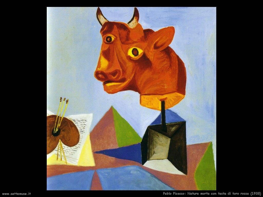 1938_pablo_picasso_natura_morta_con_testa_toro_rossa