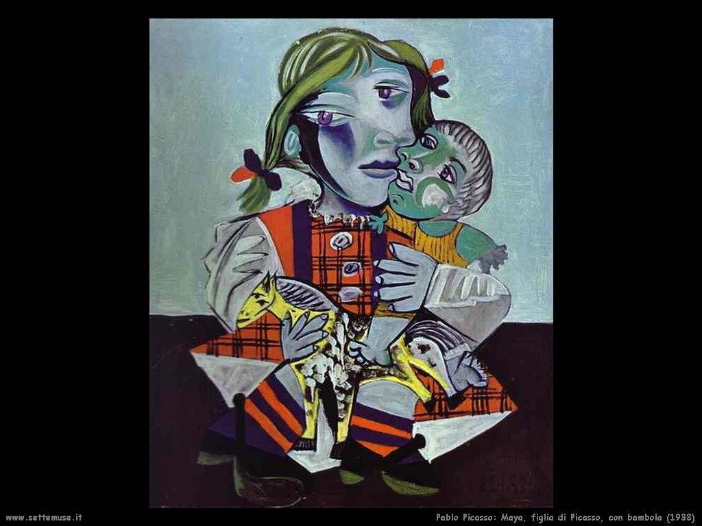 1938_pablo_picasso_maya_figlia_di_picasso_con_bambola