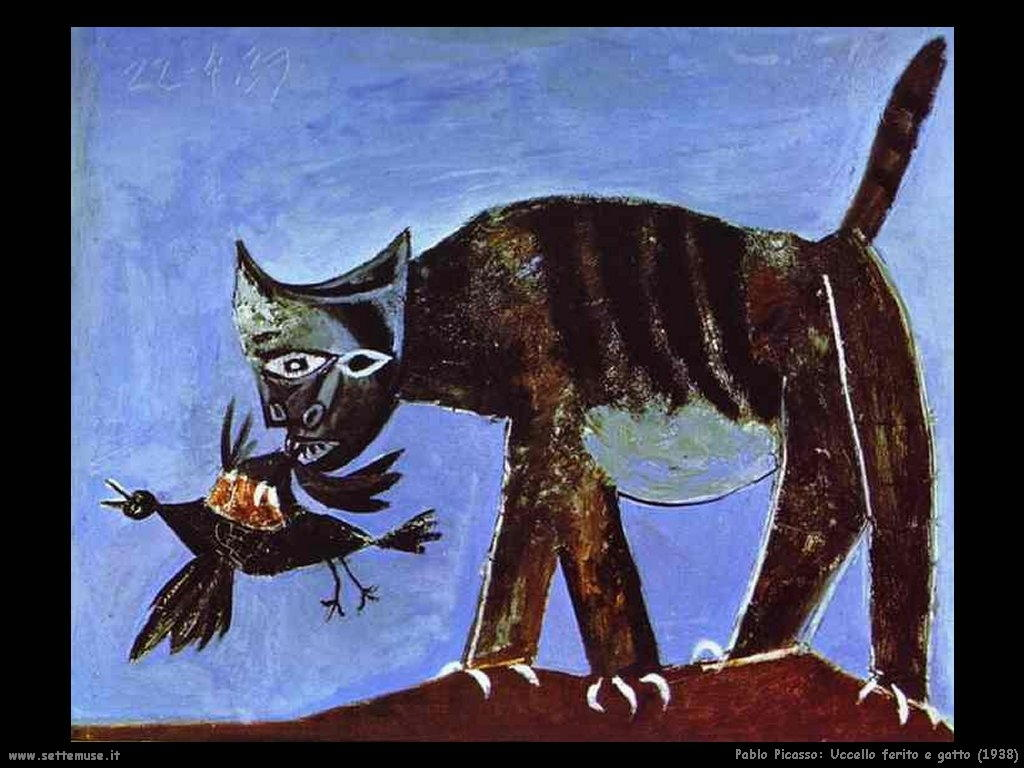 1938_pablo_picasso_uccello_ferito_e_gatto