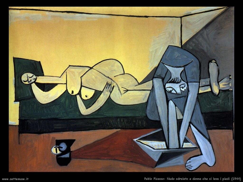 1944_pablo_picasso_nudo_sdraiato_e_donna_si_lava_i_piedi