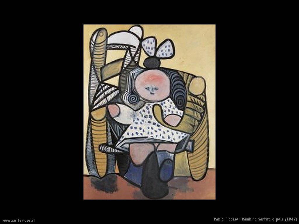 1947_pablo_picasso_bambino_vestito_a_pois