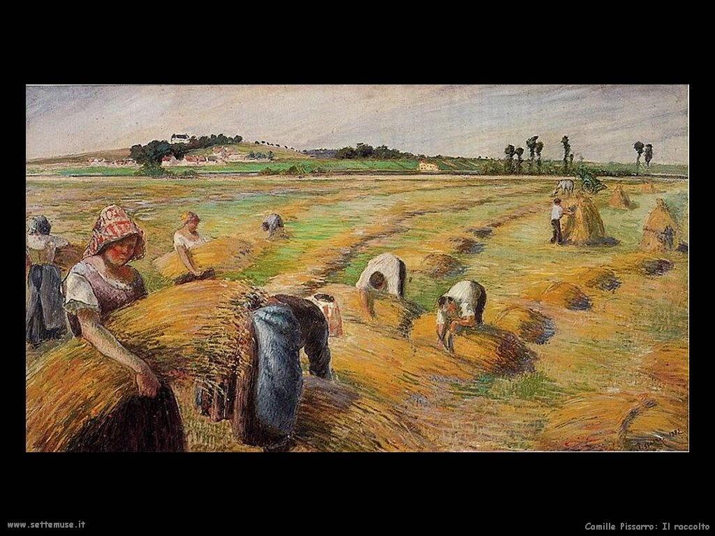 062_il_raccolto Camille Pissarro