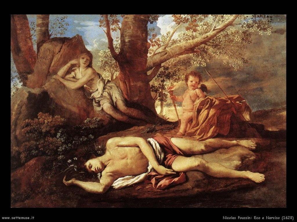 nicolas poussin  storia di eco e narciso 1628