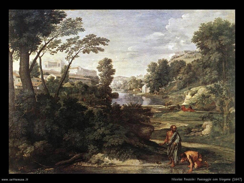 Nicolas Poussin_paesaggio_con_diogene_1647