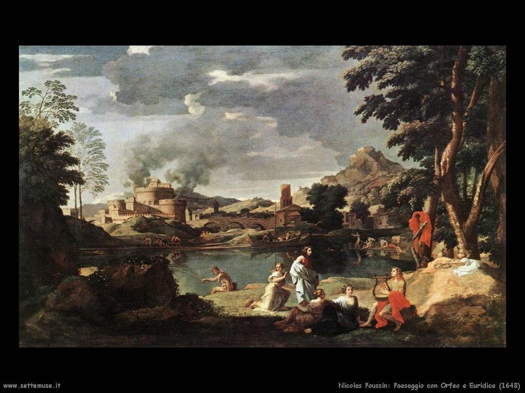 Nicolas Poussin_paesaggio_con_orfeo_ed_euridice_1648
