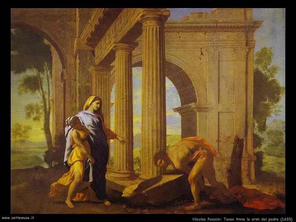 Nicolas Poussin_teseo_trova_le_armi_del_padre_1633