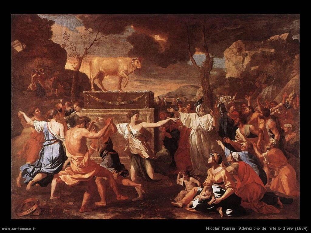 Nicolas Poussin_adorazione_del_vitello_doro_1634