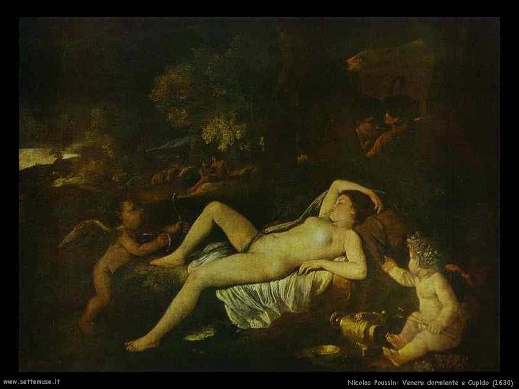 Nicolas Poussin_venere_dormiente_e_cupido_1630