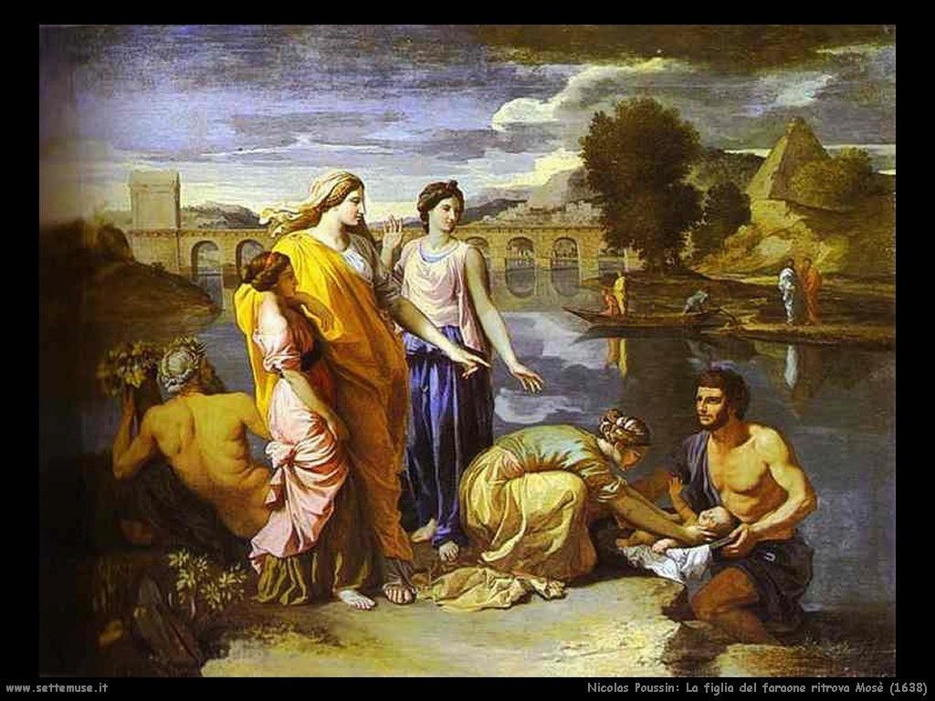 Nicolas Poussin_figlia_del_faraone_ritrova_mosè_1638