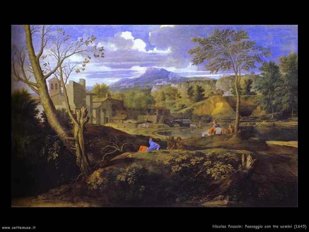 Nicolas Poussin_paesaggio_con_tre_uomini_1645
