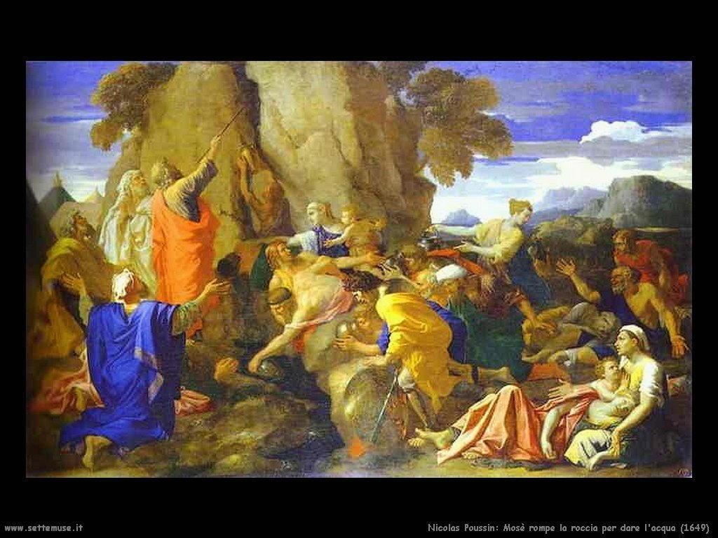 Nicolas Poussin_mosè_rompe_la_roccia_per_l_acqua_1649