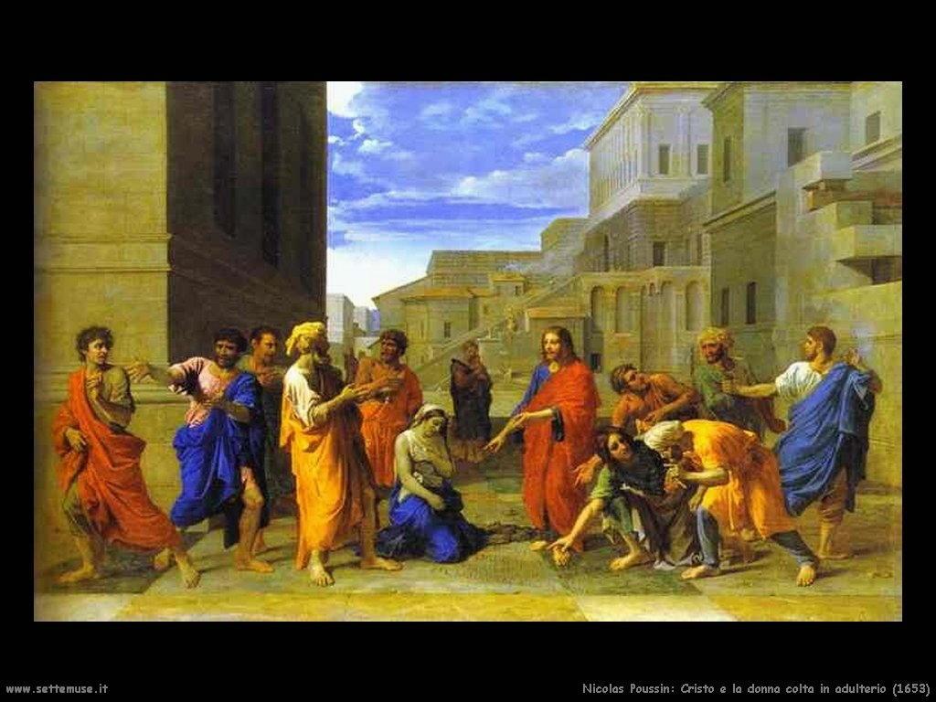 Nicolas Poussin_cristo_e_la_donna_colta_in_adulterio_1653