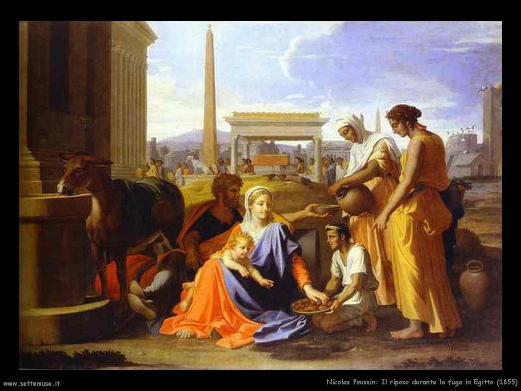 Nicolas Poussin_riposo_durante_fuga_in_egitto_1655
