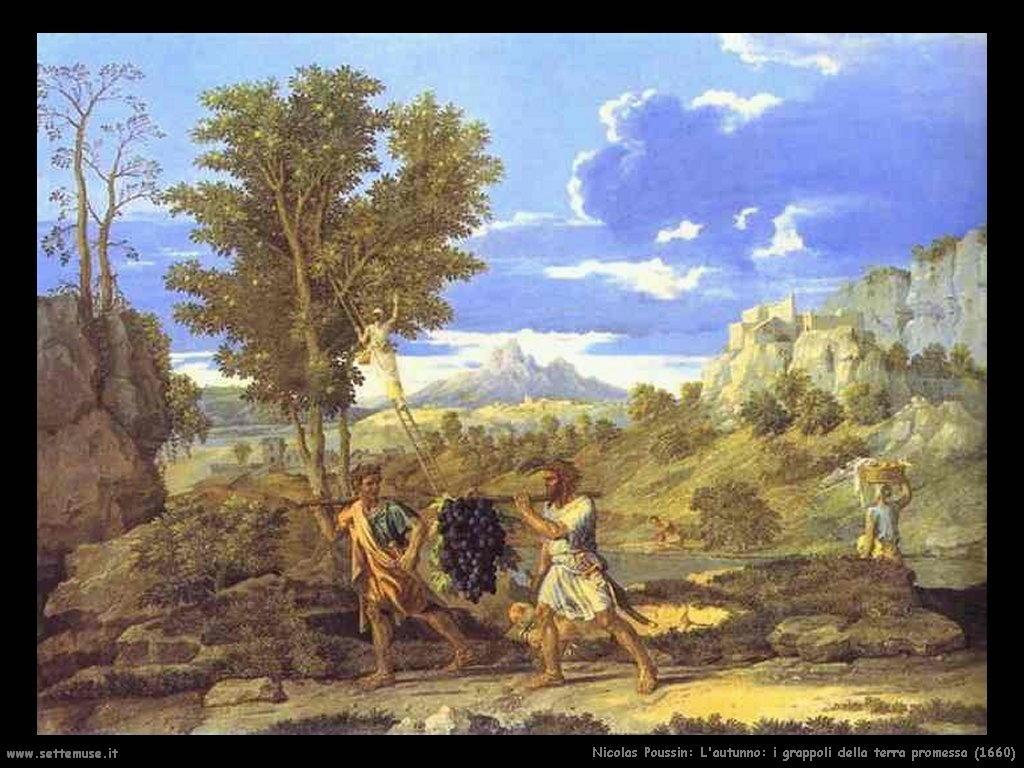 Nicolas Poussin_autunno_i_grappoli_della_terra_promessa_1660