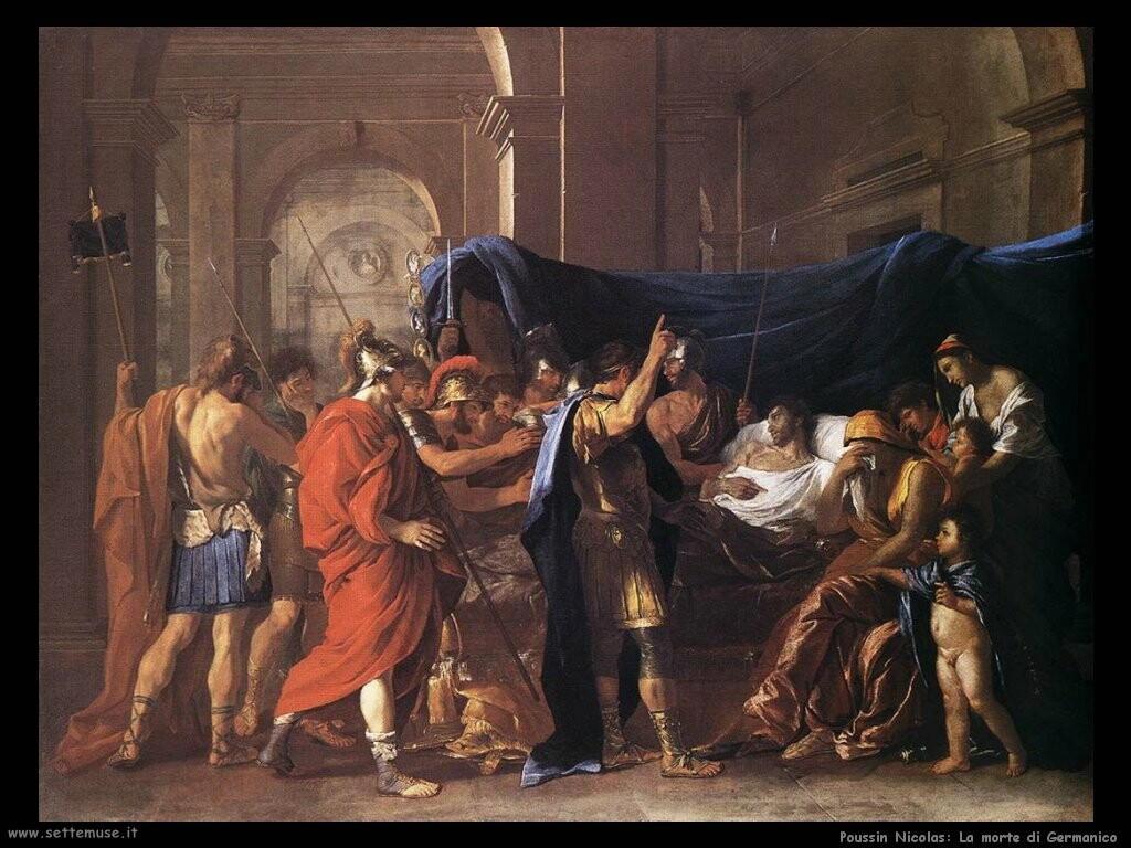 poussin nicolas  Morte di Germanicus