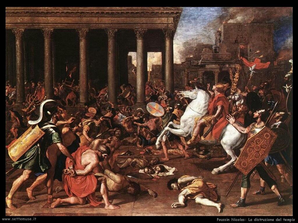 poussin nicolas La distruzione del tempio